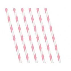 Strohhalme weiß/rosa