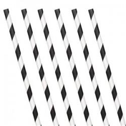 Strohhalme weiß/schwarz