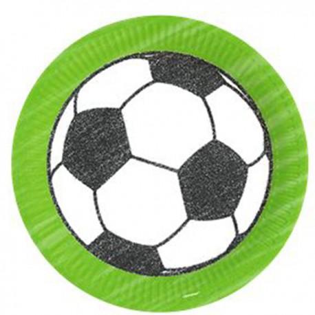 """Pappteller grün """"Fußball"""""""
