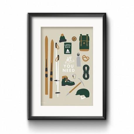 "Poster ""All I need"" - SOFORT VERFÜGBAR"