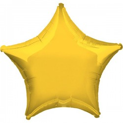 Folienballon Stern gelb - SOFORT VERFÜGBAR
