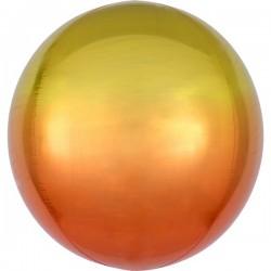 Folienballon orbz orange/gelb  - SOFORT VERFÜGBAR