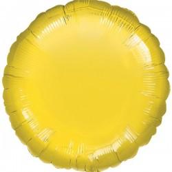 Folienballon Kreis gelb - SOFORT VERFÜGBAR
