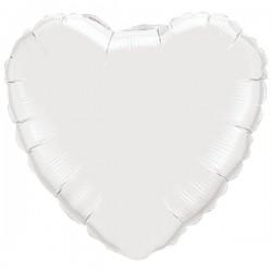 Folienballon Herz weiß - SOFORT VERFÜGBAR