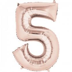 Folienballon 5 rosé - SOFORT VERFÜGBAR