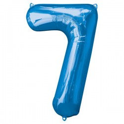 Folienballon 7 blau - SOFORT VERFÜGBAR