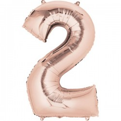 Folienballon 2 rosé - SOFORT VERFÜGBAR