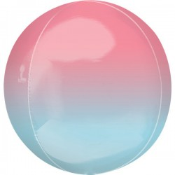 Folienballon orbz pink/blau  - SOFORT VERFÜGBAR