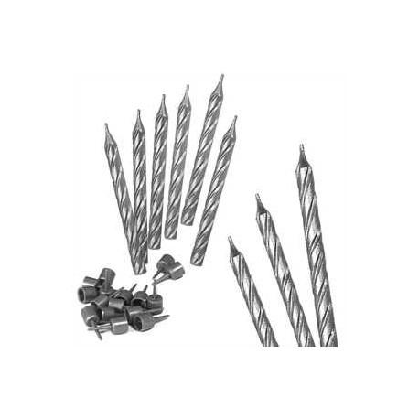 Ritterkerzen silber