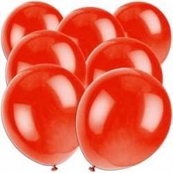 Rtterballons rot uni