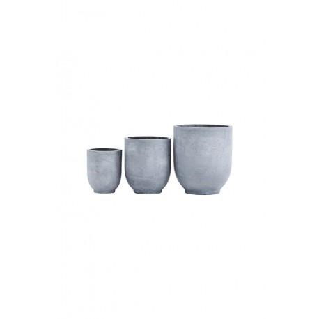 blumentopf 3er set with passion. Black Bedroom Furniture Sets. Home Design Ideas